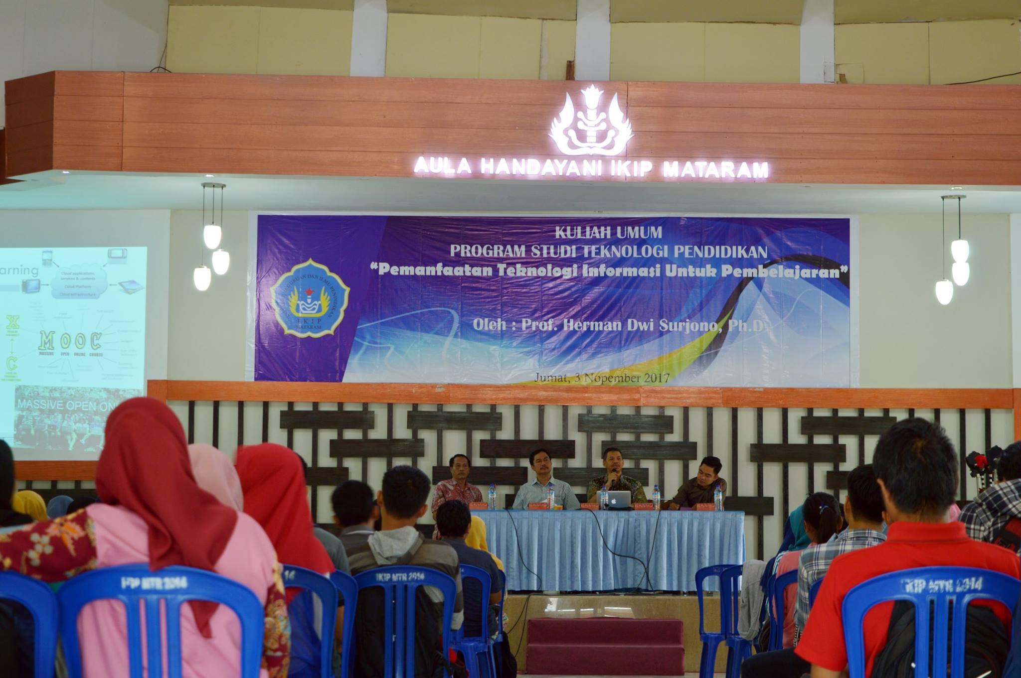 Kuliah Umum IKIP Mataram